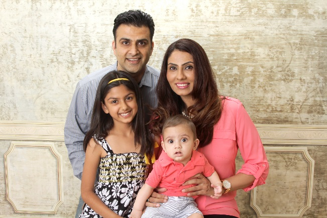 Dr. Simran Kaur and her family